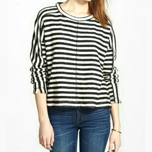 Madewell Striped Long Sleeve Knit Pullover Top
